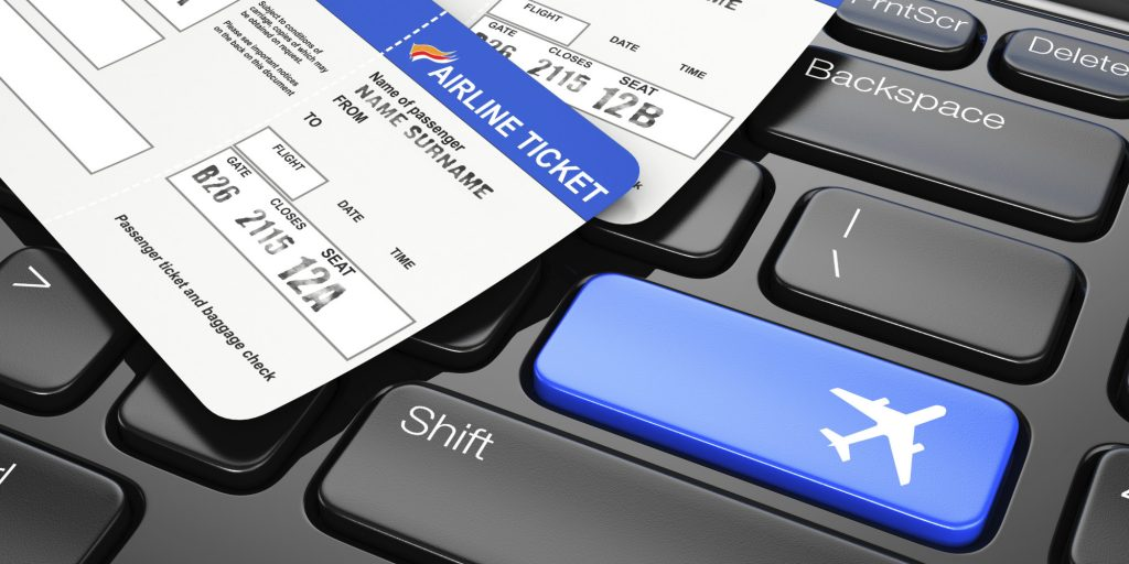 Online booking airplane